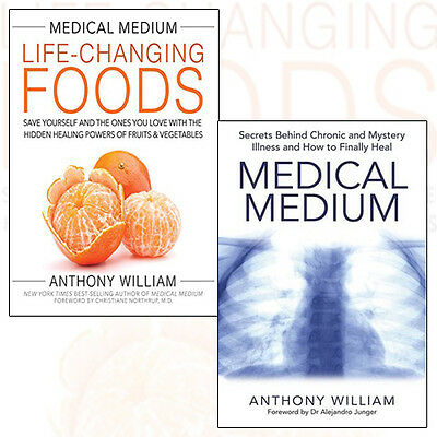 Anthony William Collection Life-Changing Foods 2 Books Set (Medical Medium) New