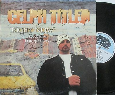 "CELPH TITLED ~ Right Now ~ 12"" Single PS - USA PRESSING"