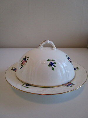 Vtg Adderley Bone China Muffin Dish & Lid Covered butter Cheese pancke keeper