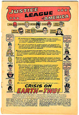 """JUSTICE LEAGUE OF AMERICA #22 """"Crisis on Earth 2!"""" JSA Appearance! 1963 DC"""
