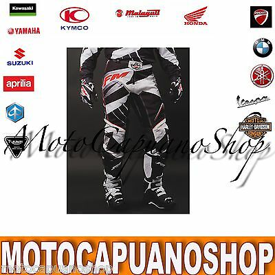Pantalone Taglia 46 Fm Racing Mx X22 Nero Cross Enduro Quad