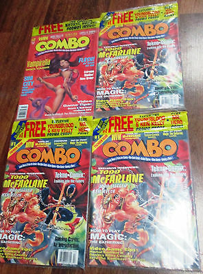 Lot of 4 Combo Non-Sport Trading Card Magazine #1 & 2 Sealed