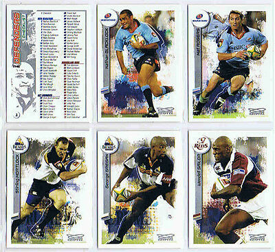 2003 kryptyx UNION RUGBY complete set of 110 cards.