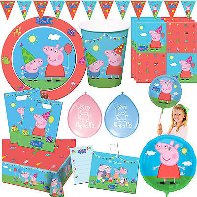 Peppa PIG Tableware and Deco for children's birthday - MEGA SELECTION - Peppa