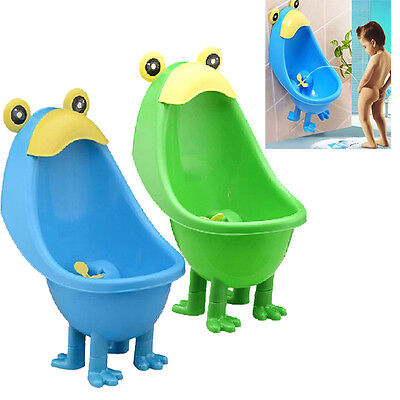 Frog Children  Potty Toilet Urinal Stand Wall-Mounted Boys Pee Training Bathroom