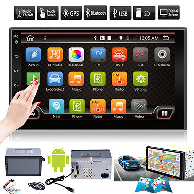"Android Quad Core 7"" HD 2 Din Car Stereo GPS MP5 Player Radio 3G Wifi BT+ Camera"