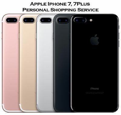 Apple iPhone 7, 7 Plus Jet Black, Rose Gold Personal Shopping Concierge Service