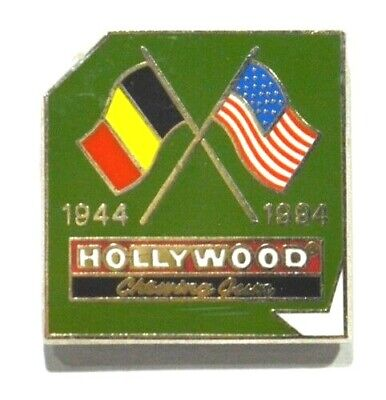 Pins Chewing Gum Hollywood 1944/1994 Drapeau Allemagne Usa Guerre Mondiale