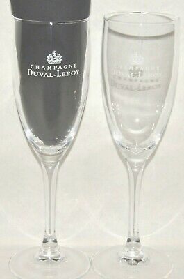 DUVAL LEROY CHAMPAGNE 2 flutes coupe verre neuf