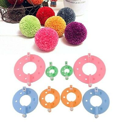 1 Set 4 Sizes Maker Fluff Ball Weave Needlecraft Knitting Tool Yarn Kit