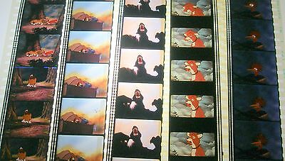 Disney's - The Fox and the Hound-  Rare Unmounted 35mm Film Cells - 5 Strips