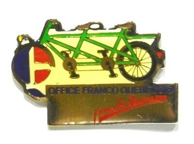 Pins Cyclisme Cycle Velo Office Franco Quebecois Jeunesse Quebec Canada