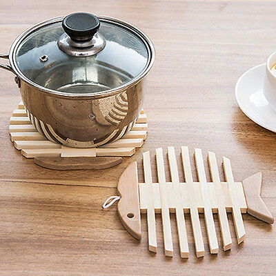 Heat Resistant Bamboo Kitchen Bowl Pot Kettle Table Mat Pad Coaster Hot
