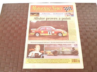 MOTORING NEWS 15 APRIL 1992 ALISTER McRAE-GRANITE,NICKY GRIST,MARTIN DONNELLY