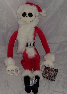 Disney Sandy Claws Jack Skellington Santa Soft Toy Nightmare Before Christmas