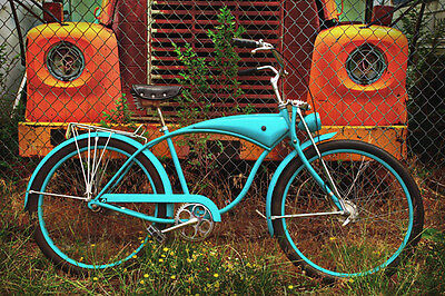 Wheels of Yesterday by Todd Van Fleet Bike Cycling Bicycle Canvas Giclee 34x24