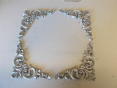 Ornate French Style Corners Silver Resin Furniture Mouldings