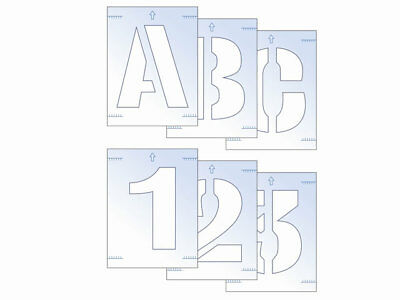 Scan SCA9406 Letter and Number Stencil Kit 100mm Sign