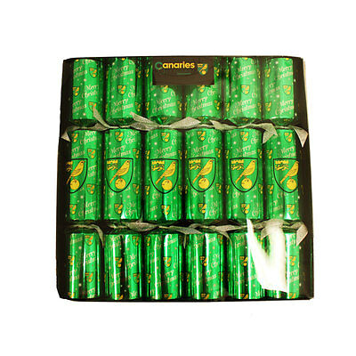 Official Norwich City Fc Christmas Crackers