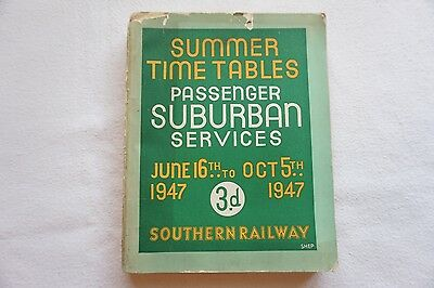June 1947 Southern Railway Train Passenger Services Timetable Summer Timetables