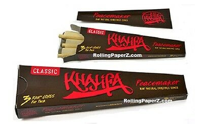 1X SMOKABLE PACKAGE Wiz Khalifa PEACEMAKER- 3 RAW Rolling Paper Pre-Rolled Cones