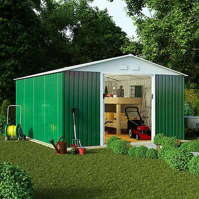 Boxer Metal Garden Shed | Apex Heavy-Duty Galvanised Steel Outdoor Storage Shed