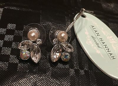 Alan Hannah Devoted- Designer Pearls & Crystal Earrings
