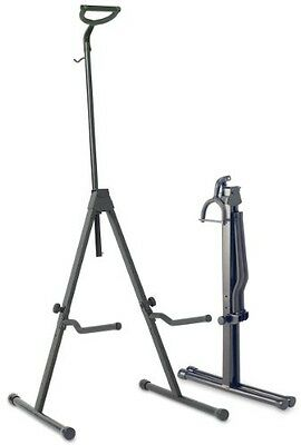 Stagg SV-CE Adjustable Foldable Stand for Cello with Hook for Bow - Black