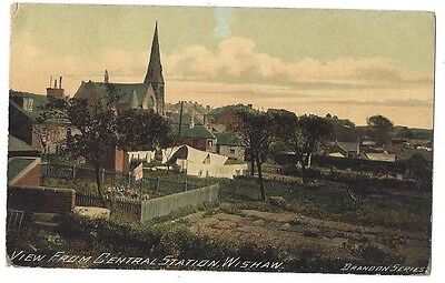 WISHAW View from Central Station, Postally Used Postcard 1907, Brandon Series