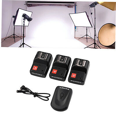 PT-04 GY 4 Channels Wireless/Radio Flash Trigger SET with 3 Receivers BH