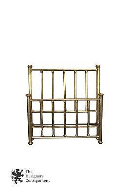 Antique Brass Headboard & Footboard Victorian Style Bed Aged Patina Full Size