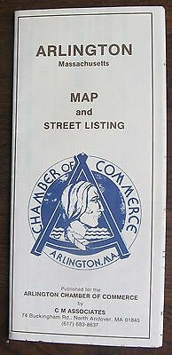 Arlington Massachusetts Chamber of Commerce MAP and Street Listing (circa 1984)