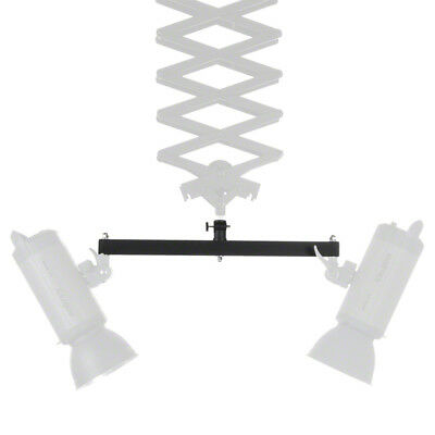 walimex Double Mounting Bracket for Ceiling Rail, with two 5/8 spigots