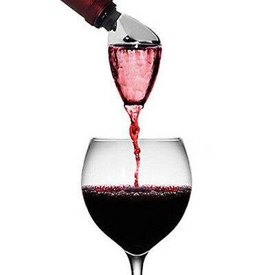 Metrokane Houdini Aerating Pourer Aerates Red Colour Great Gift for Wine Lovers