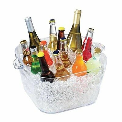 All Occasions Serroni Unbreakables Square Party Tub Ice Bucket Bars Restos