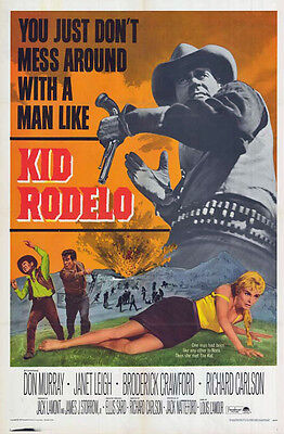 KID RODELO orig 1966 one sheet movie poster LOUIS L'AMOUR/JANET LEIGH/DON MURRAY