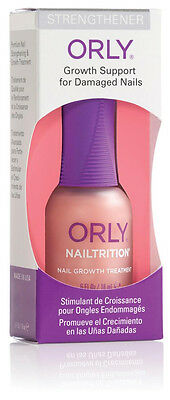 Orly NAILTRITION Strengthener Growth Support for Damaged Nails 0.6 oz (18ml)