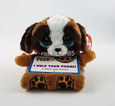 "6"" TY Peek-A-Boos Pups Dog Plush Stuffed Girl Toys Phone Holder With Tag"