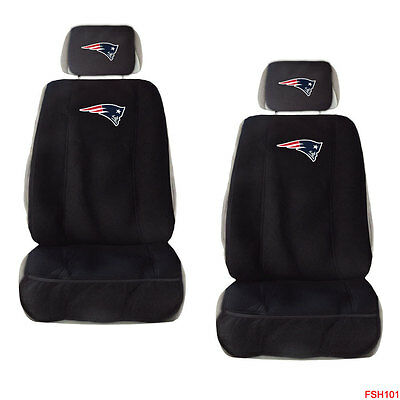 Excellent Pair Of New England Patriots Head Rest Covers New Truck Frankydiablos Diy Chair Ideas Frankydiabloscom
