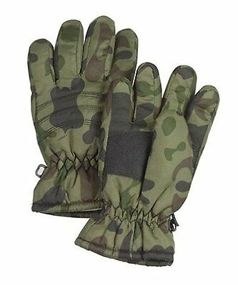 Kids Thermoblock Insulated Army Woodland Camo Ski Winter Cold Weather Gloves