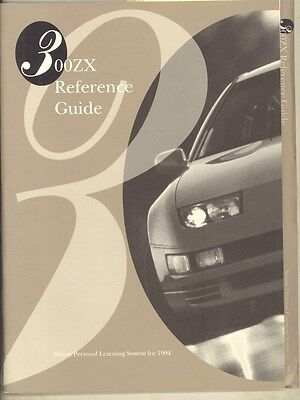 1994 Nissan 300ZX Reference Guide Prestige Brochure Salesman's Book ww3051
