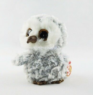 "6"" Ty Beanie Boos Owlette Gray Owl Glitter Eyes Plush Stuffed Girl Toys With Tag"