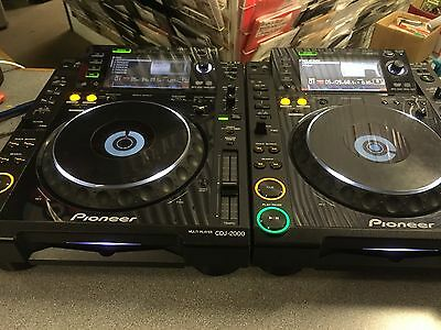 Pioneer CDJ2000 CD Decks Pair   + 1 x Decksaver Cover