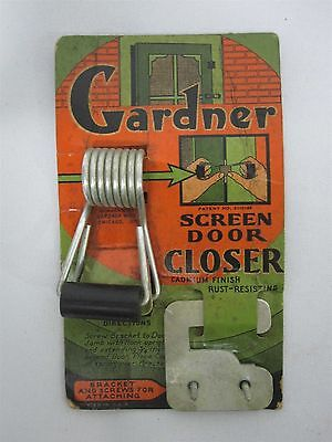 Vintage Gardner Screen Door Closer ~ Mint In Package, Never Used