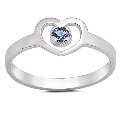 USA Seller Heart Baby Ring Sterling Silver 925 Best Price Jewelry Garnet CZ