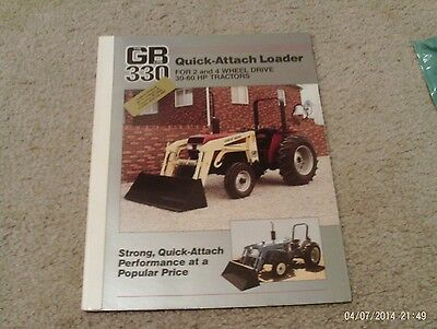 Great Bend 330 Quick - Attach Loader  Dealer Brochure