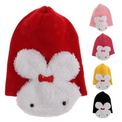 Phenovo Cute Baby Kids Girl Boy Dual Rabbit Warm Winter Knitted Cap Hat