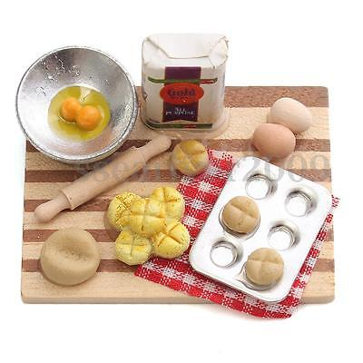 1/12 Scale Dollhouse Mini Kitchen Cooking Bread Breakfast Food Kids Play Toy