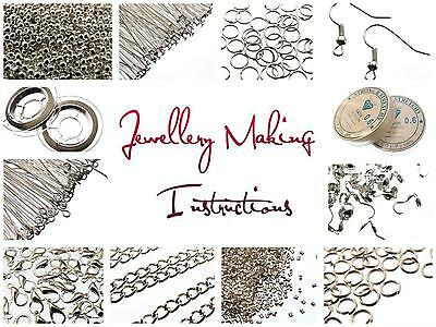 Large Jewellery Making Starter kit 1075 pcs Wire, Findings, Chain, Crimp Beads