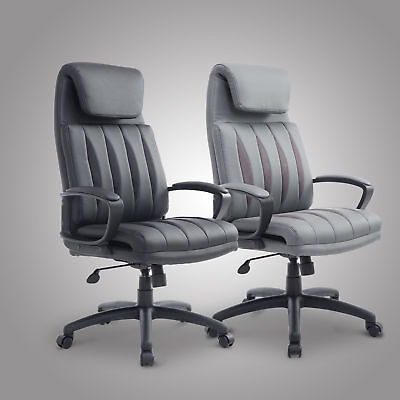 High Back PU Leather Office Chair Executive Task Ergonomic Computer Desk New
